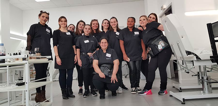 Equipe maquillage Karis défilé de mode Skill and You 2018
